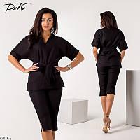 Летний костюм женский(блузка+бриджи) льняной 42-46 размеров Турция