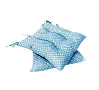 Подушка на стул Голубой горох 40*40 см