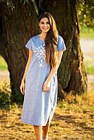 Легкое женское летнее платье из льна