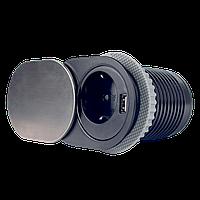 Компактна меблева розетка EH-AR-304, фото 1