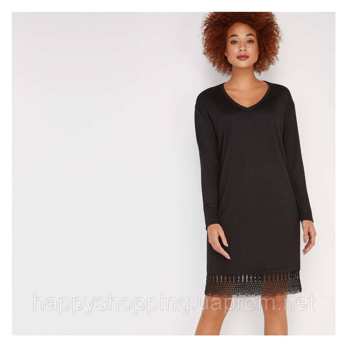 Женское стильное черное миди платье Joe Fresh