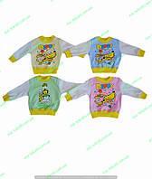 Кофточка для новорожденных с рисунком теплая,кофточки для малышей,одежда для новорожденных,интерлок начес