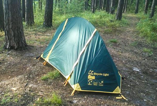 Намет Tramp Bicycle light v2. Палатка туристическая. Намет туристичний