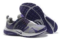 Кроссовки женские Nike Air Presto, кроссовки женские найк престо серо-фиолетовые