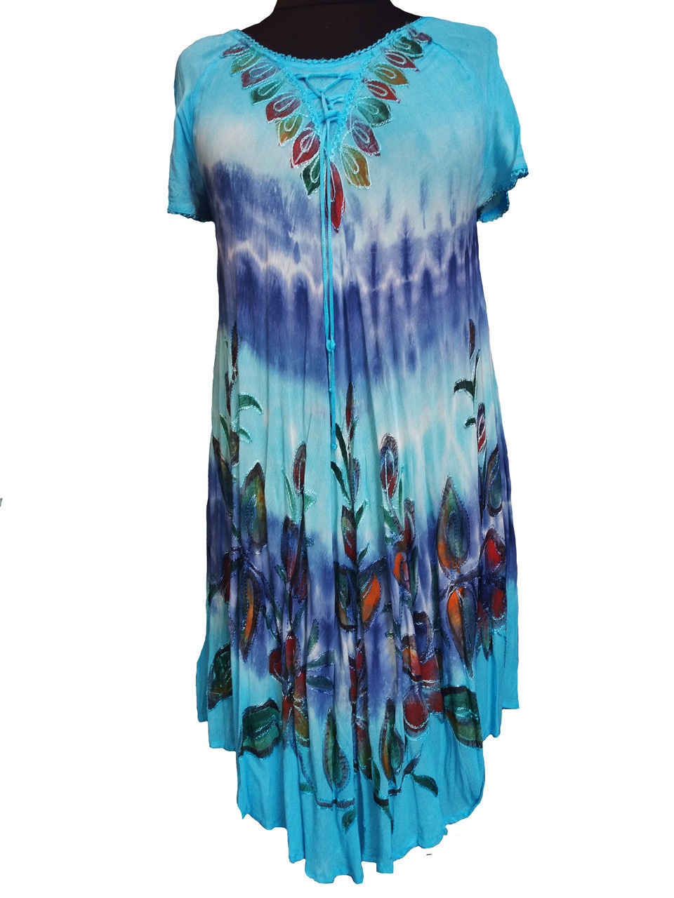 Легкое пляжное женское платье ламбада (с 50-58 размер)