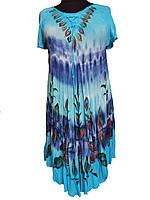 Легкое пляжное женское платье ламбада (с 50-58 размер), фото 1