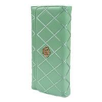 Женский клатч с короной стеганый Crown зеленый Crown_g - 140127