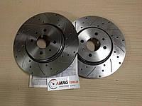 Тормозные диски ВАЗ R15  с насечками, перфорацией (Калина Спорт) (Алнас)