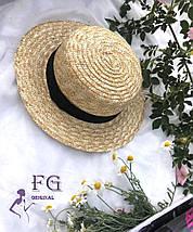 Соломенная шляпа канотье, фото 3