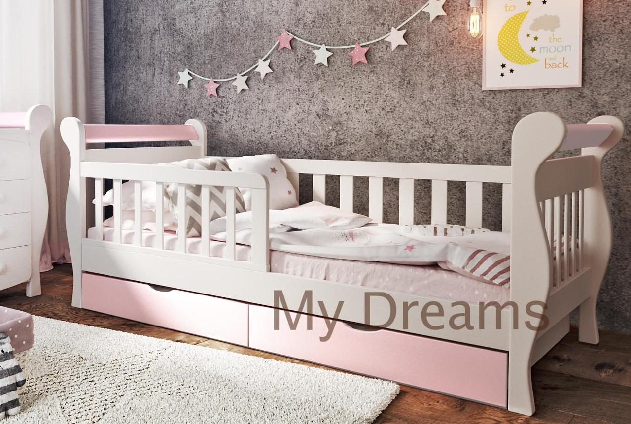 Детская кровать от 3 лет с бортиками для девочки Miss Secret Baby Dream