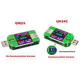 USB тестер RD um24c USB 2.0 Цветной дисплей 10 групп данных Индикатор bluetooth Поддержка QC2.0 и QC3.0 вольт, фото 3