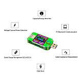 USB тестер RD um24c USB 2.0 Цветной дисплей 10 групп данных Индикатор bluetooth Поддержка QC2.0 и QC3.0 вольт, фото 4