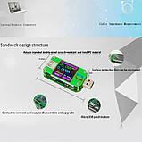 USB тестер RD um24c USB 2.0 Цветной дисплей 10 групп данных Индикатор bluetooth Поддержка QC2.0 и QC3.0 вольт, фото 6