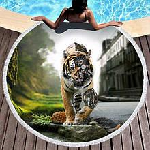 Кругле пляжний рушник Тигр (150 див.)