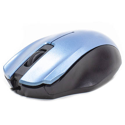 Проводная мышь Apedra M4 Blue оптическая USB 3 кнопки dpi 1000 Точек на дюйм 1,2 m, фото 2