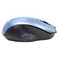 Проводная мышь Apedra M4 Blue оптическая USB 3 кнопки dpi 1000 Точек на дюйм 1,2 m, фото 3