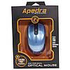 Проводная мышь Apedra M4 Blue оптическая USB 3 кнопки dpi 1000 Точек на дюйм 1,2 m, фото 4
