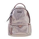 Рюкзак женский YES Weekend YW27 из PU кожи 22*32*12 см розовый в полоску (555890), фото 5