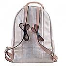 Рюкзак женский YES Weekend YW27 из PU кожи 22*32*12 см розовый в полоску (555890), фото 4