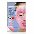 Кислородная тканевая маска для лица Deep Purifying Pink O2 Bubble Mask Peach (персик), фото 2