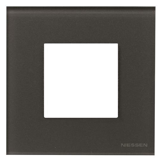 Рамка 1 постовая стекло графит N2271 СF, ZENIT