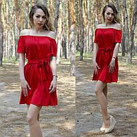 Женское стильное платье с открытыми плачами