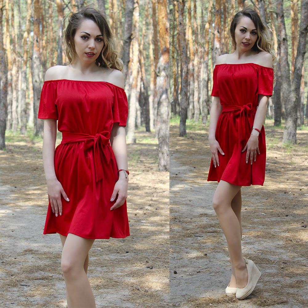 Платье летнее с поясом