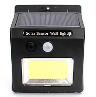 Светодиодный фонарь уличный LED светильник наружного освещения с датчиком движения на солнечной батарее