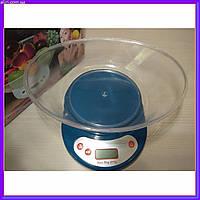 Кухонные электронные весы до 5 кг с чашей EK01 с тарированием