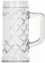 Кружка пивная стеклянная 300 мл UniGlass Rhombus