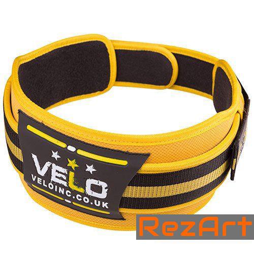 """Пояс для тяжелой атлетики VELO Polyfoam 4"""" желто-черный (размеры в ассортименте)"""