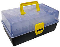 Ящик рыболовный 2-х полочный c прозрачной крышкой