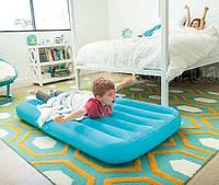 Детский надувной матрас INTEX 88x157x18 см, одноместный матрас ИНТЕКС для детей от 3 до 10 лет