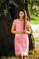 Красивое розовое женское платье