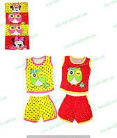 Летний костюм для девочки в горошек с накатом, комсомольский трикотаж от производителя, одежда для девочек