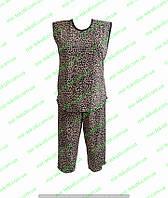 Летняя  женская пижама с бриджами тигровая