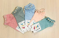Носки детские демисезонные хлопок с бусинками размер 34-38 ассорти