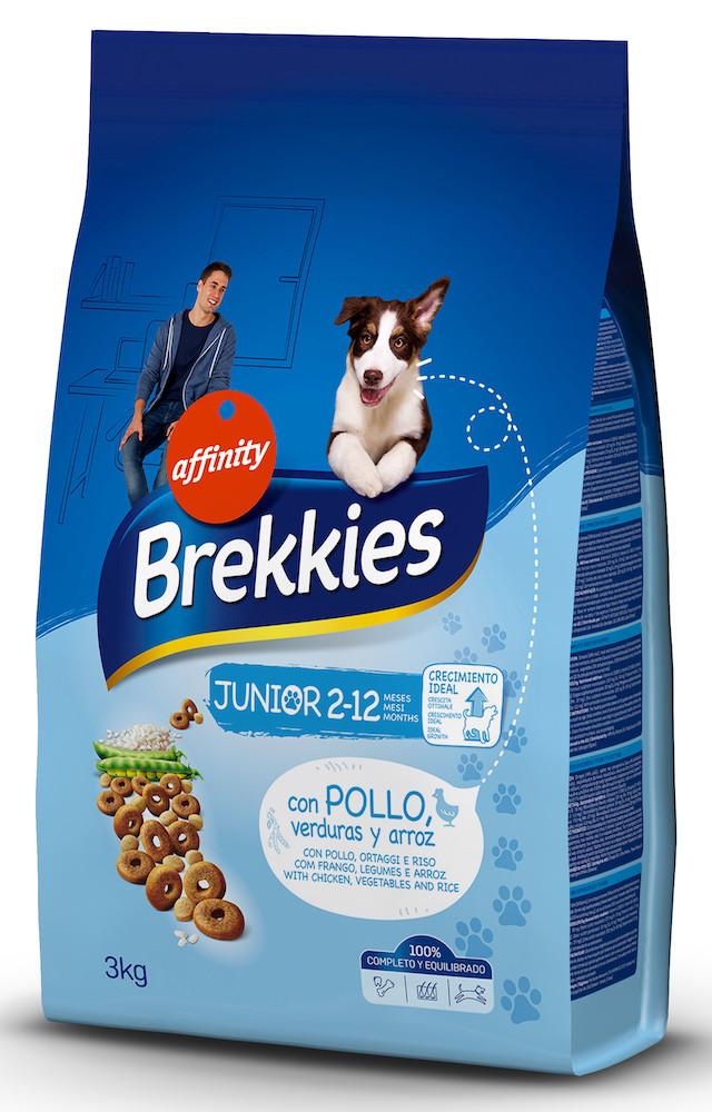 Сухий корм BREKKIES Dog Junior 3 кг для цуценят кальцій та вітаміни