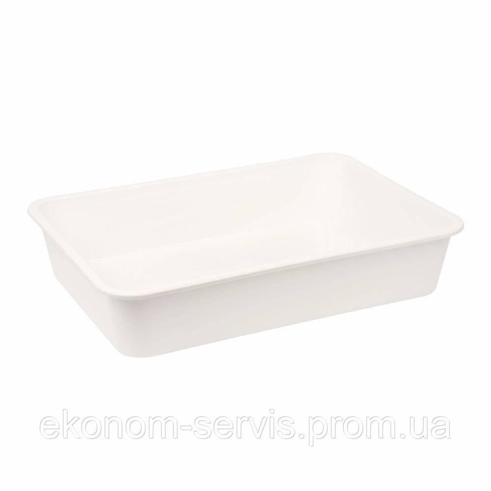 Лоток пищевой №4, белый, 453*330*90 мм.