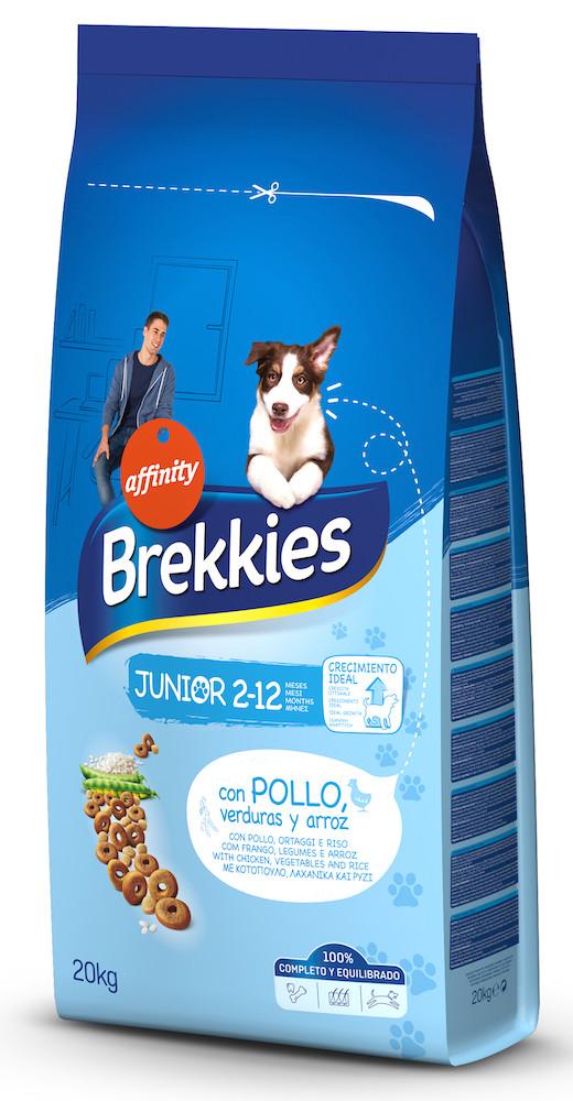 Сухий корм BREKKIES Dog Junior 20 кг для цуценят кальцій та вітаміни