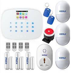 GSM сигнализация Kerui G19 KR-G19 White комплект,для дома, офиса