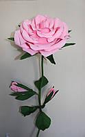 Бумажный цветок - роза (розовая)