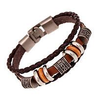 Женский кожаный браслет - Наоми (Коричневый)
