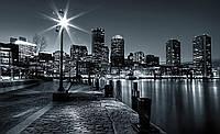 Фотообои 3D улица города (флизелиновые 312х219 см) Яркий фонарь (275V8CN)