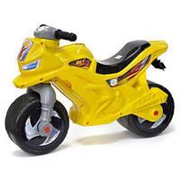 Каталка Мотоцикл беговел, двоколісний Жовтого кольору, Оріон, музичний, фото 1