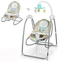 Кресло-качалка для ребёнка,качалка-шезлонг, мобиль, Детская качель Bambi ME 1020-12 с мобильным приложением
