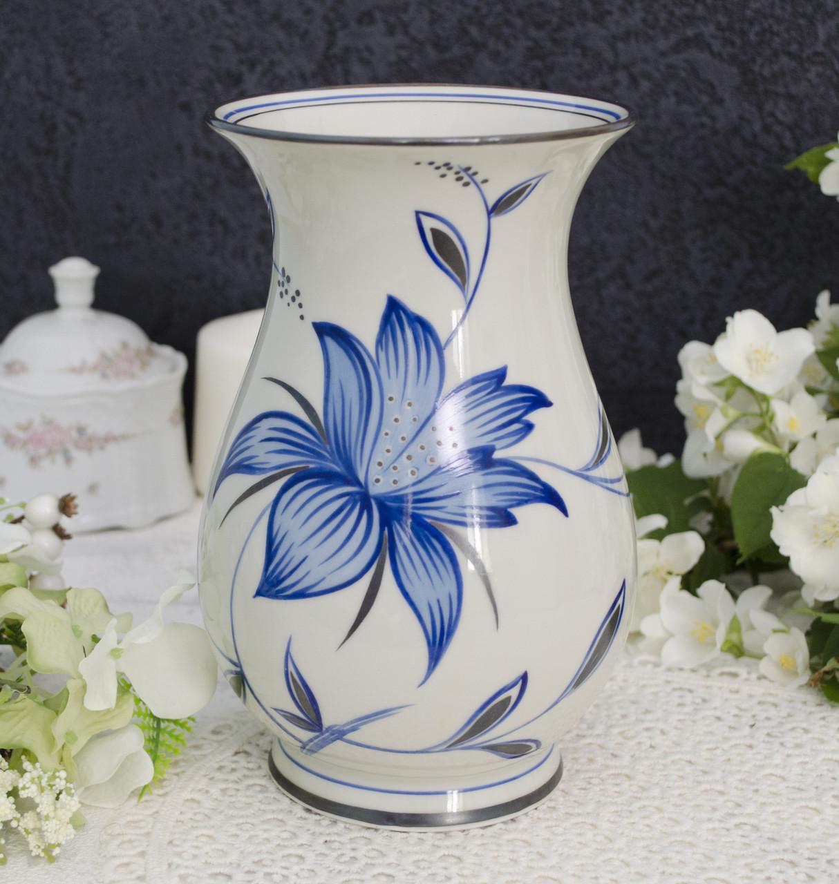 Старая фарфоровая ваза, Германия, Porzellanfabrik Schlottenhof, фарфор, Германия, Handgemalt