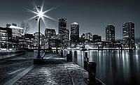 Фотообои 3D улица города (флизелиновые 416х254 см) Яркий фонарь (275V8CN)