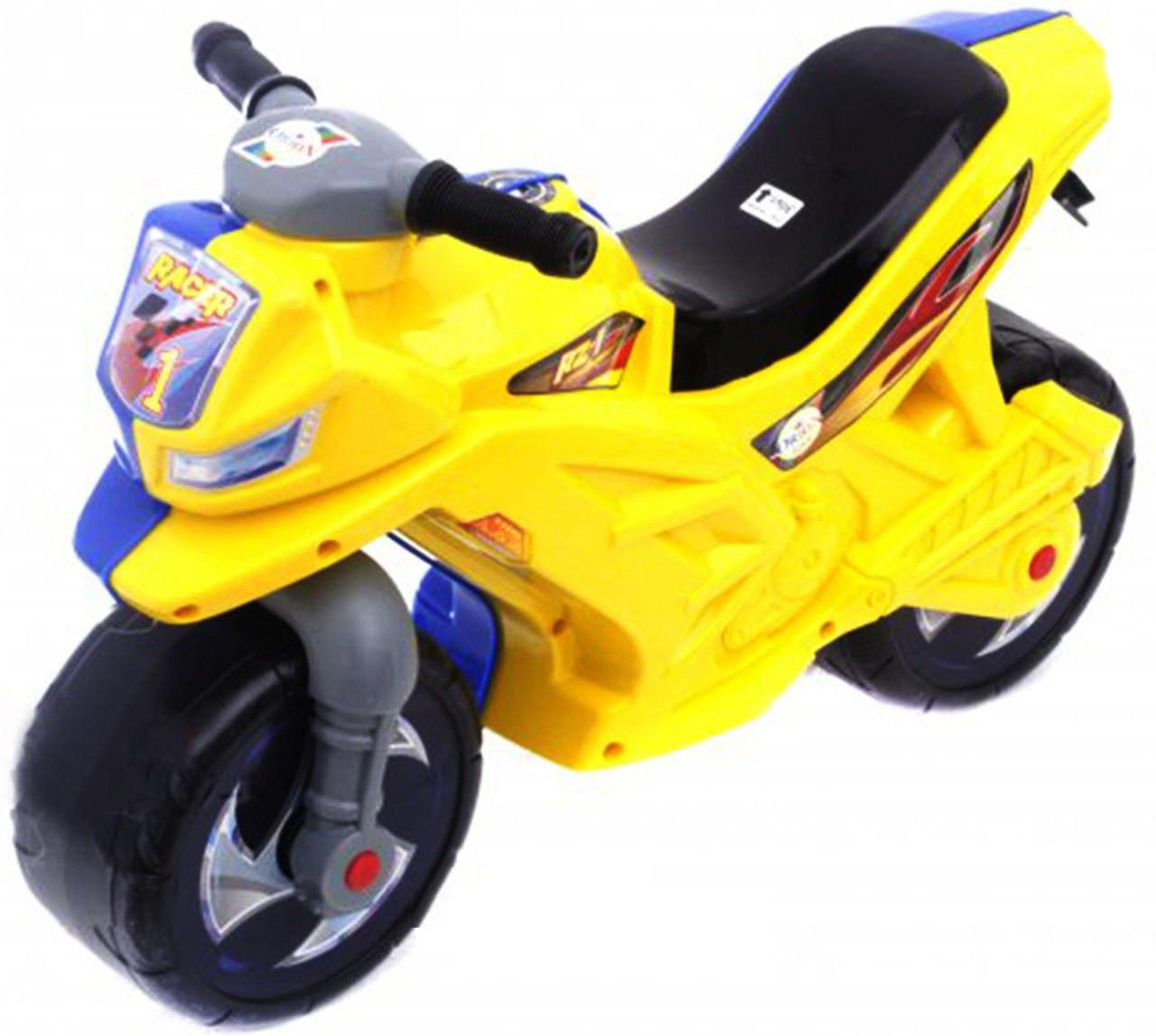 Каталка Мотоцикл беговел, двоколісний Жовто блакитного кольору, Оріон