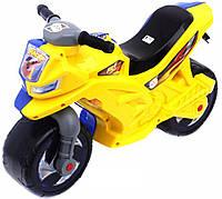 Каталка Мотоцикл беговел, двоколісний Жовто блакитного кольору, Оріон, фото 1